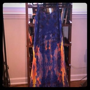 Flying Watercolors Summer Maxi Dress